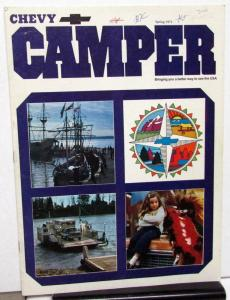 Spring 1973 Chevy Camper Promotional Camping Magazine Chevrolet Cars Trucks RVs