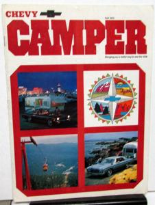 Fall 1973 Chevy Camper Promotional Camping Magazine Chevrolet Cars Trucks RVs