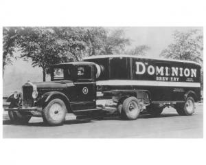 1940s Era White Truck Model 621 Tractor Photo Dominion Brewery Toronto Canada