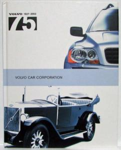 Volvo Cars 1927-2002 75th Year Historical Booklet Dealer Sales Brochure