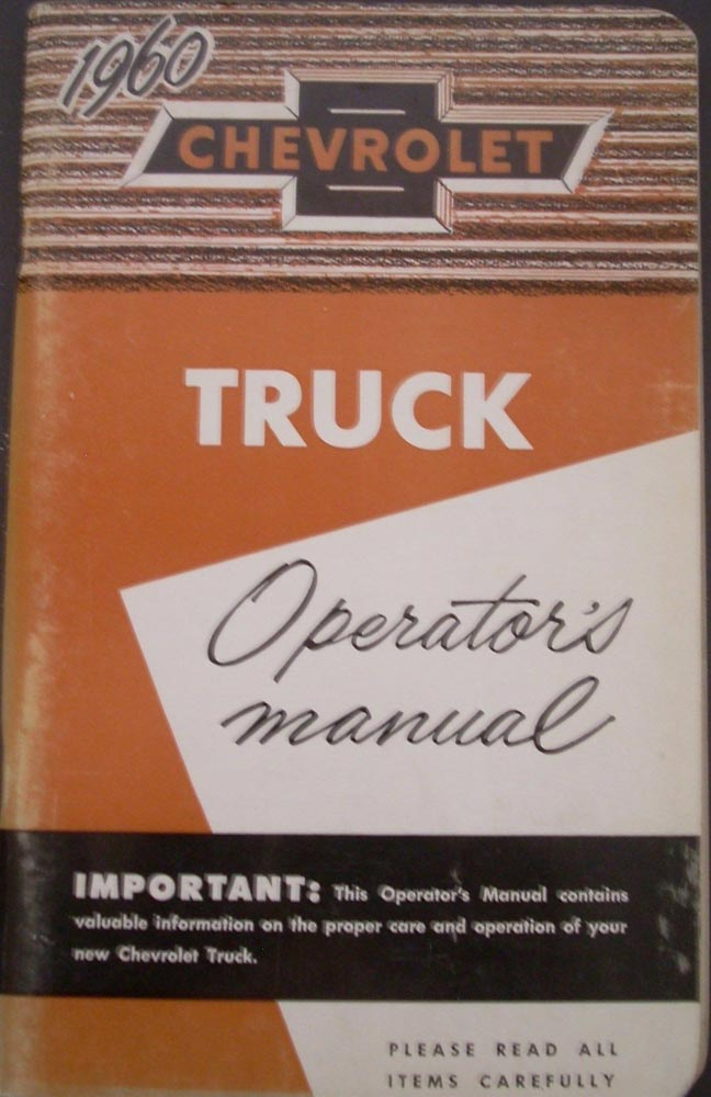 1960 Chevrolet Light Medium Heavy Duty Truck Canadian Owners Manual 2nd Edition