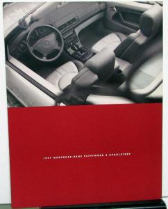 1997 Mercedes Benz Dealer Sales Brochure Paintwork & Upholstery Options Colors