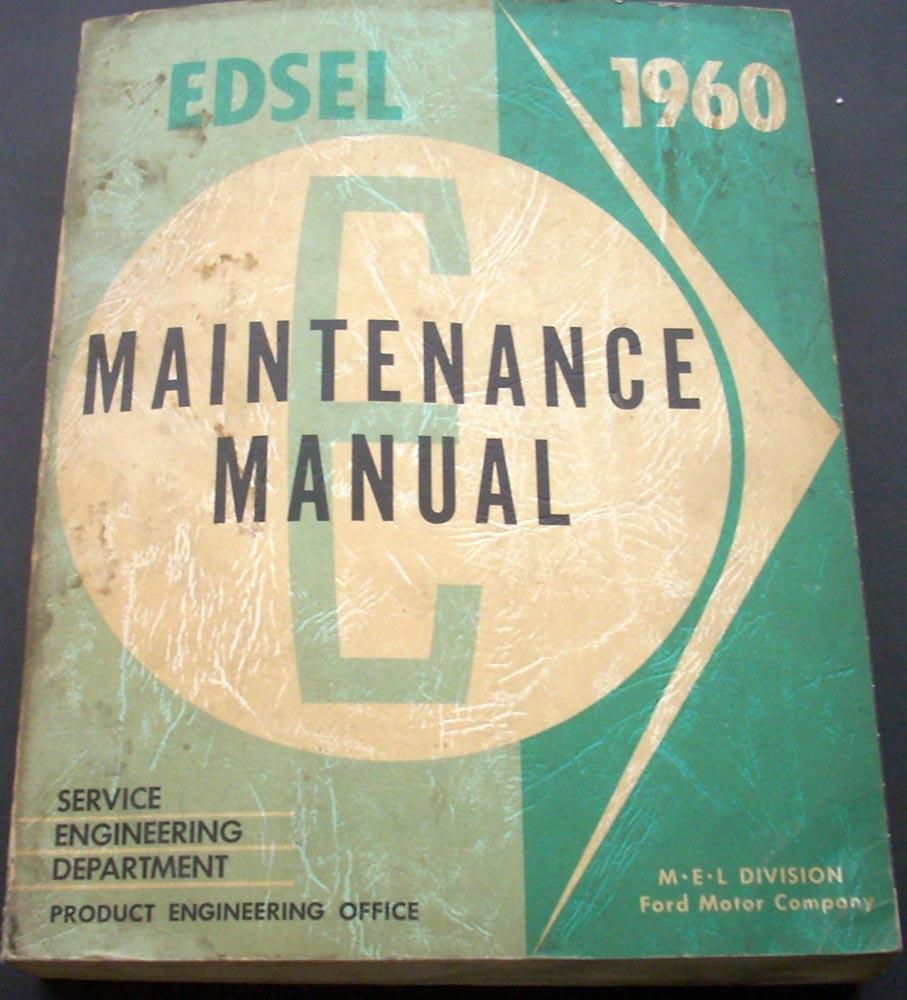 1960 Edsel Maintenance Service Manual Book Ranger Villager 60 Ford Motor  Company