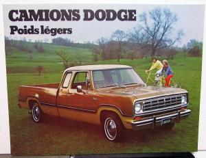 1974 Canadian Dodge Trucks Dealer Brochure French Text D100 D200 D300 Pickup