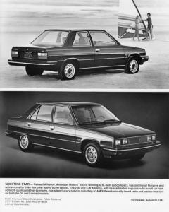 1984 Renault Alliance 2-Door and 4-Door Press Photo 0020