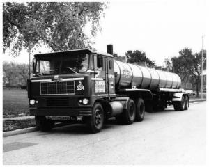 1964 White Truck Tanker Trailer Press Photo Chemical Leaman Tank Lines