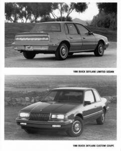 1988 Buick Skylark Limited Sedan & Custom Coupe Press Photo 0155
