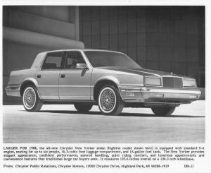 1988 Chrysler New Yorker Press Photo 0059