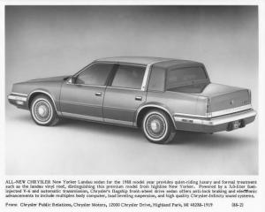 1988 Chrysler New Yorker Landau Press Photo 0060