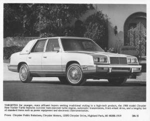 1988 Chrysler New Yorker Turbo Press Photo 0061