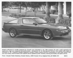 1988 Chrysler Conquest TSi Press Photo 0067