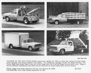 1985 Dodge Ram Road Ready Chassis-Cab Commercial Vehicles Press Photo 0122