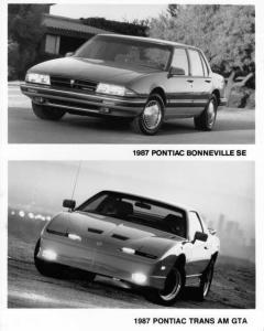 1987 Pontiac Bonneville SE and Trans Am GTA Press Photo 0118