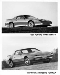 1987 Pontiac Trans Am GTA and Firebird Formula Press Photo 0119