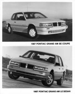 1987 Pontiac Grand Am SE Coupe and LE Sedan Press Photo 0120