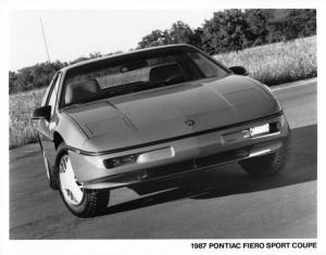 1987 Pontiac Fiero Sport Coupe Press Photo 0122