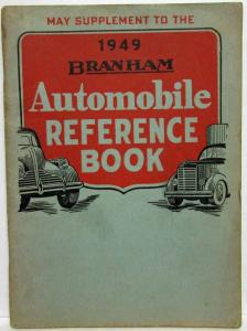 1949 Branham Automobile Reference Book - May Supplement Includes Travel Trailers