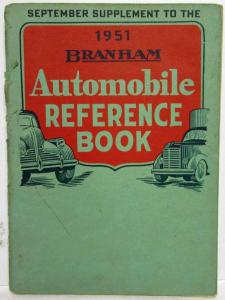 1951 Branham Automobile Reference Book - Sept Suppl Travel Trailers Cadillac GMC