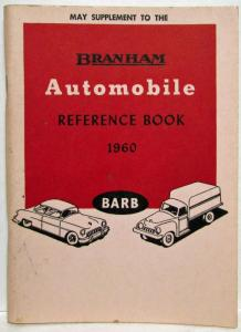 1960 Branham Automobile Reference Book - May Sup Travel Trailer Valiant BMW Fiat
