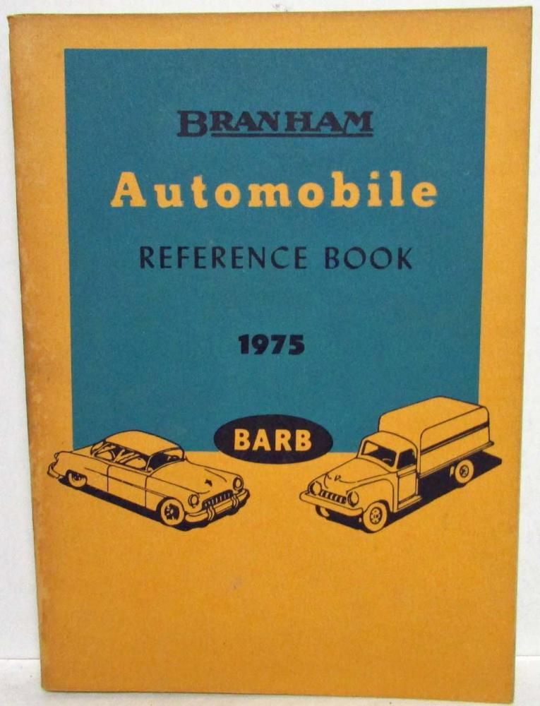 1975 Branham Automobile Reference Book Jeep Pontiac Peterbilt