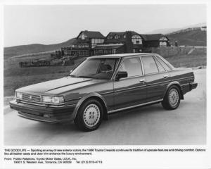 1986 Toyota Cressida Sedan Press Photo 0031