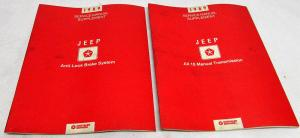 1989 Jeep Dealer Service Shop Manual Supplement Set AX 15 Trans Anti-Lock Brakes