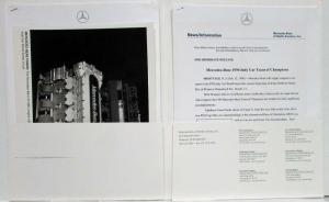 1996 Mercedes Benz Indy Car Team of Champions Press Kit IC108C Engine