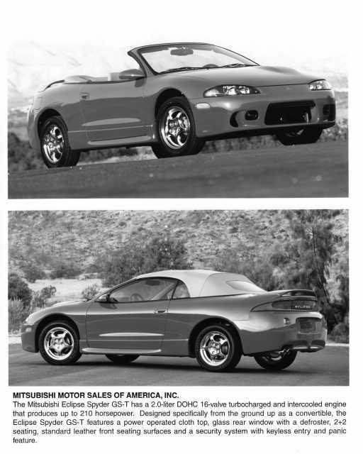 1998 mitsubishi eclipse spyder gs t press photo 0034 troxel s auto literature