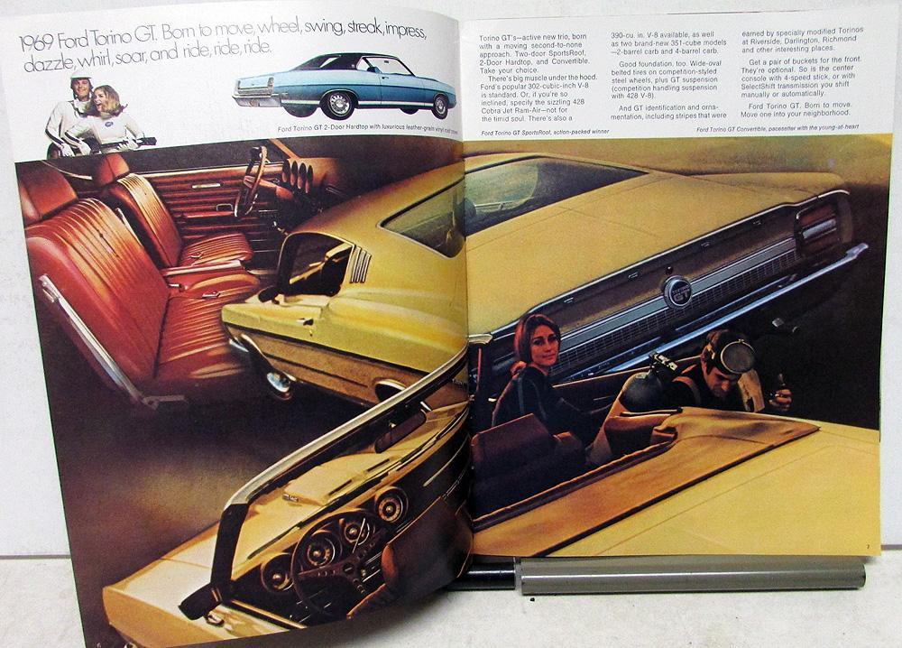 Original 1969 Ford Torino Cobra Fairlane Sales Brochure 428