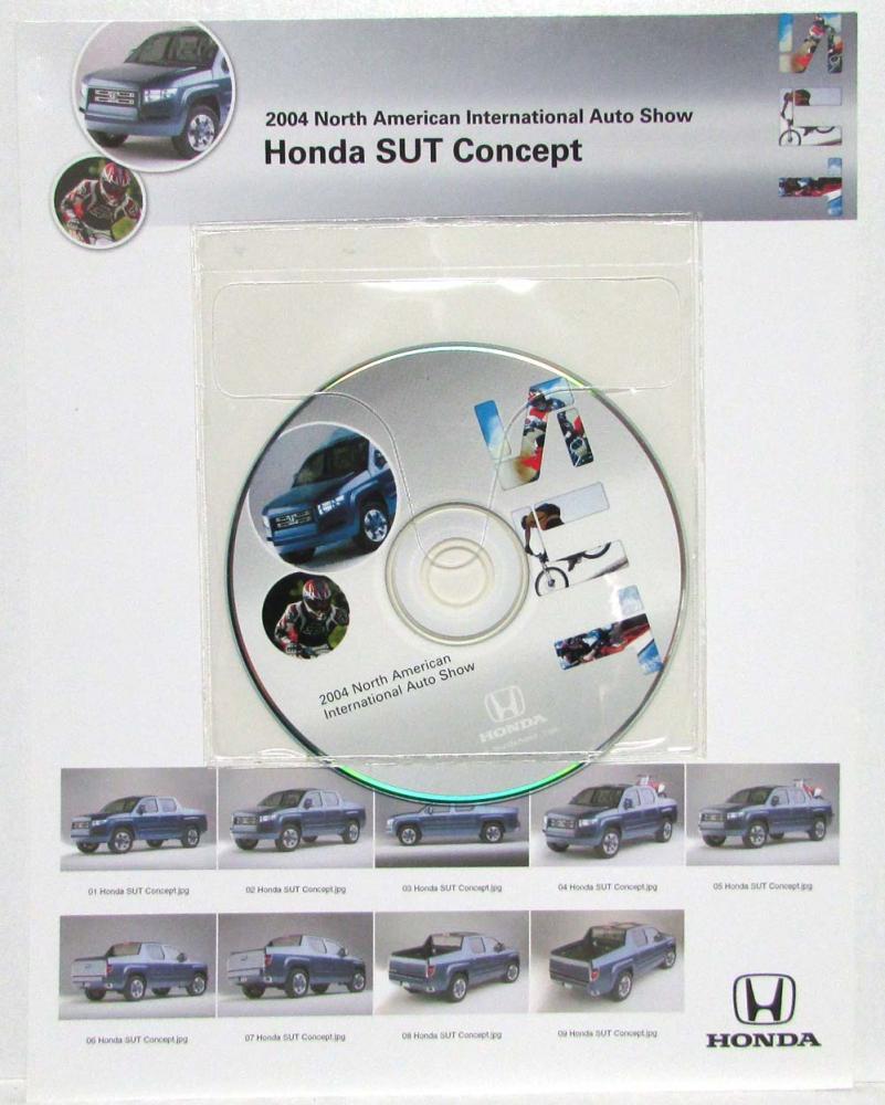 2004 Honda SUT Concept Press Kit - Ridgeline