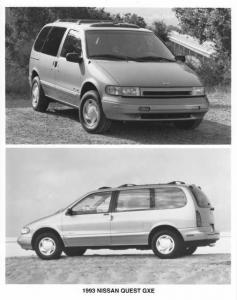 1993 Nissan Quest GXE Press Photo 0029