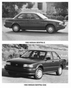 1993 Nissan Sentra E and GXE Press Photo 0032