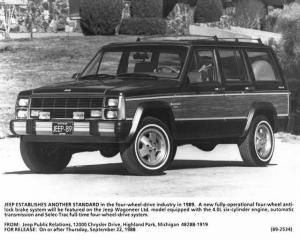 1989 Jeep Wagoneer Limited Truck Press Photo with Text 0023 - XJ