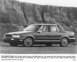 1990 Chrysler LeBaron Sedan Press Photo 0075