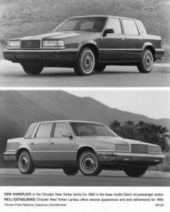 1990 Chrysler New Yorker Salon and Landau Press Photo 0077