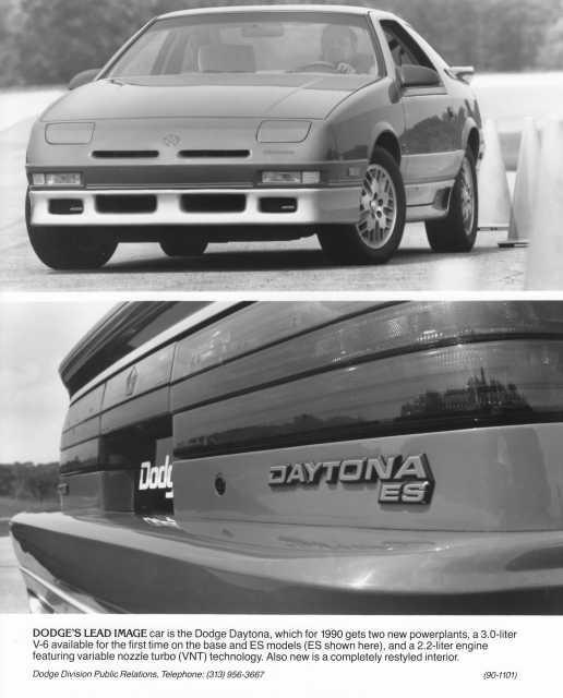 1990 Dodge Daytona Press Photo 0157