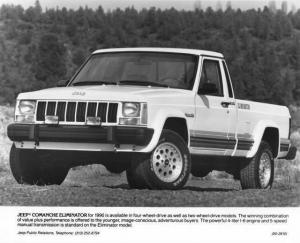 1990 Jeep Comanche Eliminator Pickup Press Photo 0034