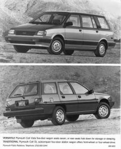 1990 Plymouth Colt Vista and DL Subcompact Station Wagon Press Photo 0078