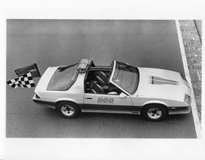 1982 Chevrolet Camaro Z-28 Indy 500 Official Pace Car Press Photo & Release 0064