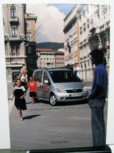 2001 Mercedes Benz Foreign Dealer French Text Vaneo Trend Family Ambiente Models