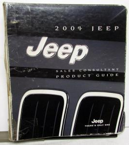 2009 Jeep Sales Consultant Product Guide Data Book Wrangler Grand Cherokee