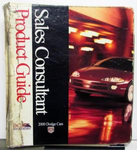 2009 Dodge Cars Sales Consultant Product Guide Data Challenger Viper Avenger