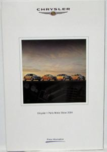 2004 Chrysler Paris Motor Show Press Kit - Crossfire PT Cruiser 300C Voyager
