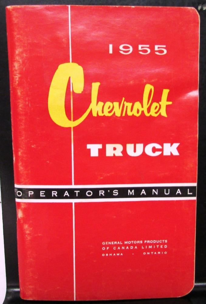 1955 Chevrolet Light Medium Heavy Duty Truck Canadian Owners Manual ORIGINAL