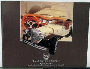 1984 1985 Gazelle Speedster C & TD by CMC With Extras Sales Brochure Orig