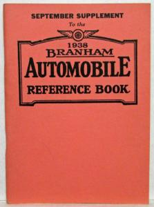 1938 Branham Automobile Reference Book - September Supplement