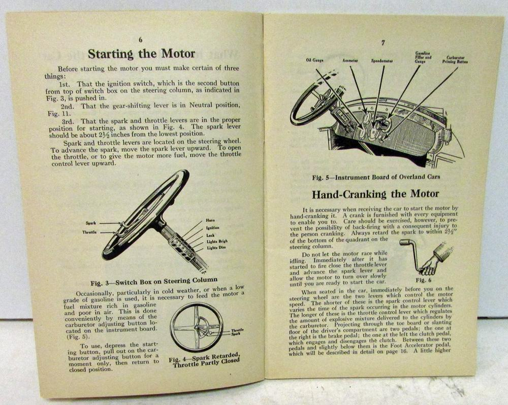 1916 1917 Willys Overland 75b Directions Operation Care Adjustment 1950 Wiring Diagram Owners Manual