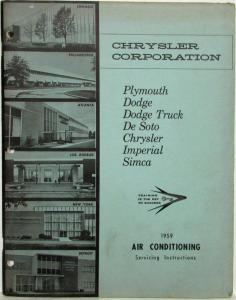 1959 Chrysler Air Conditioning Servicing Instructions Shop Manual - A/C