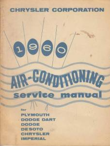 1960 Chrysler Air Conditioning Service Shop Manual - A/C