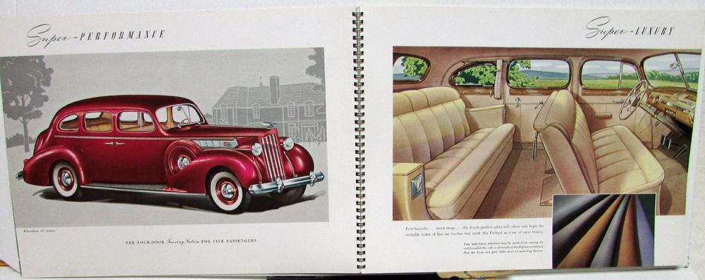 1939 Packard Super 8 Sales Brochure Catalog Touring Sedan